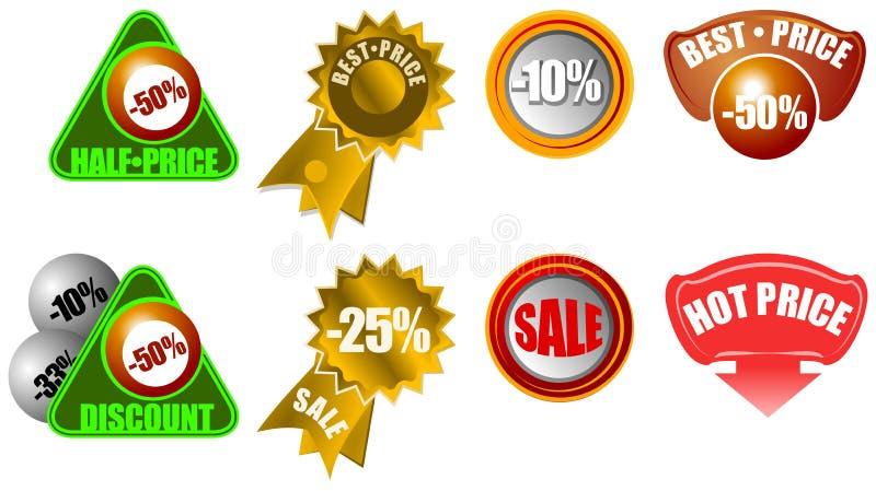 Graphismes neufs d'information de détail de vente illustration stock