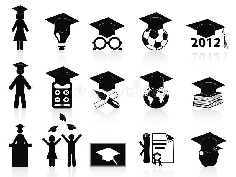 Graphismes noirs de graduation réglés illustration de vecteur