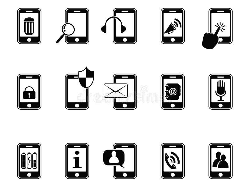 Graphismes noirs pour le téléphone portable illustration stock