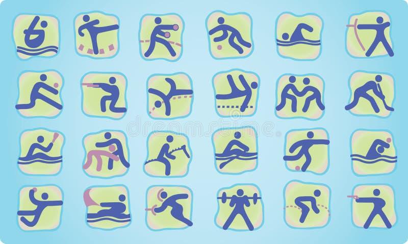 Graphismes olympiques d'été illustration de vecteur