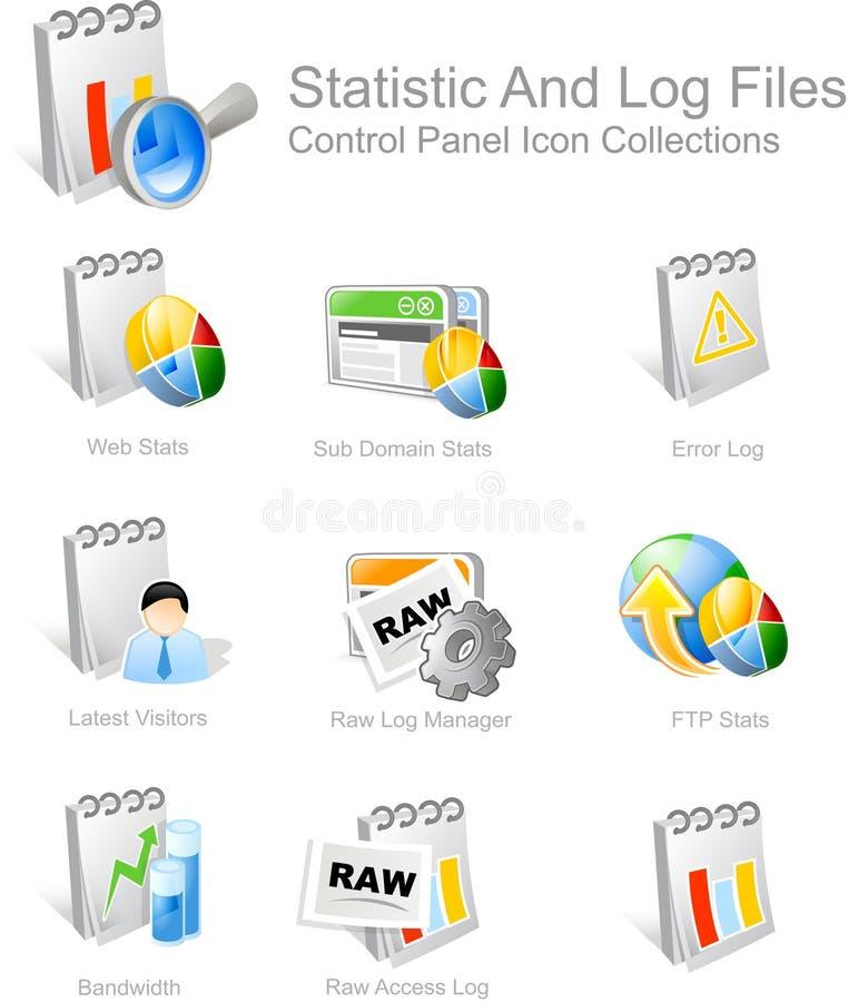 Graphismes pour des créateurs de Web illustration stock