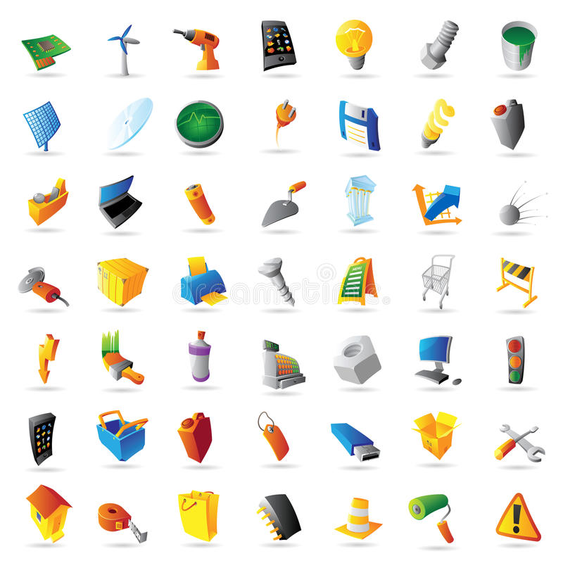 Graphismes pour l'industrie et les ordinateurs illustration de vecteur