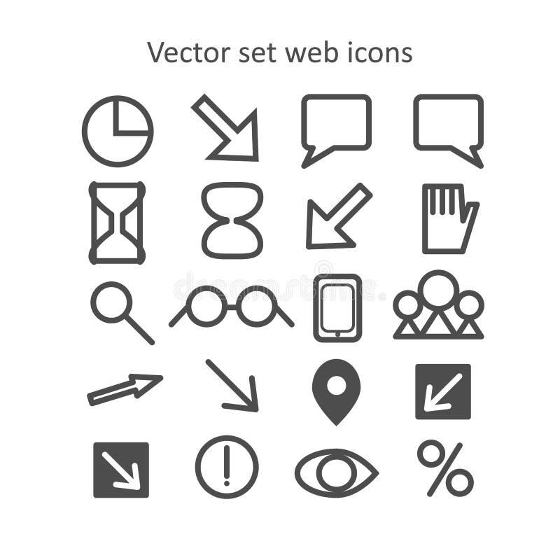 Graphismes réglés de Web de vecteur photos libres de droits
