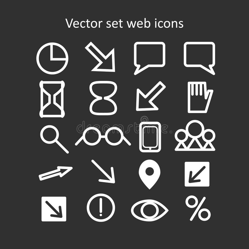 Graphismes réglés de Web de vecteur image stock