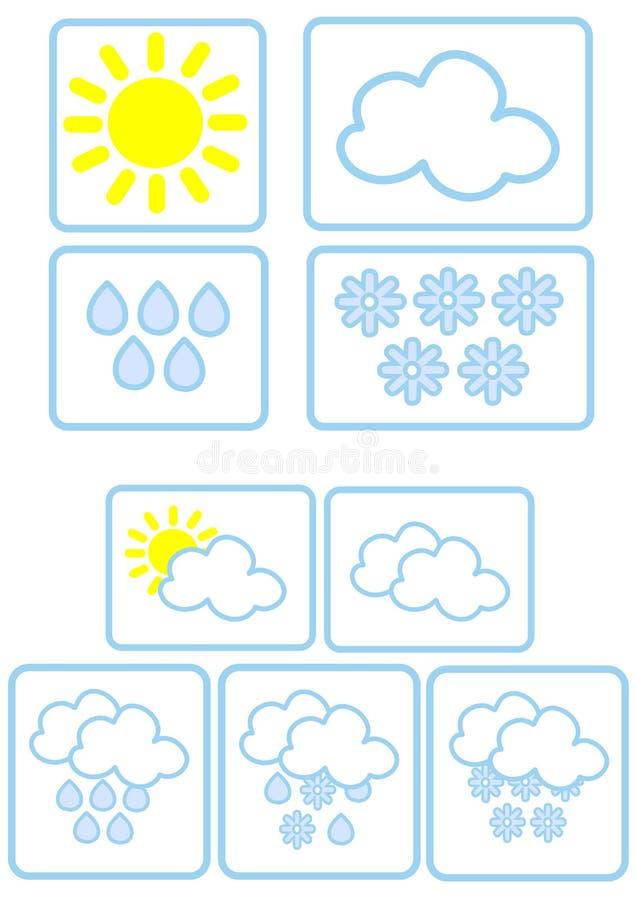 Graphismes simples de temps illustration stock