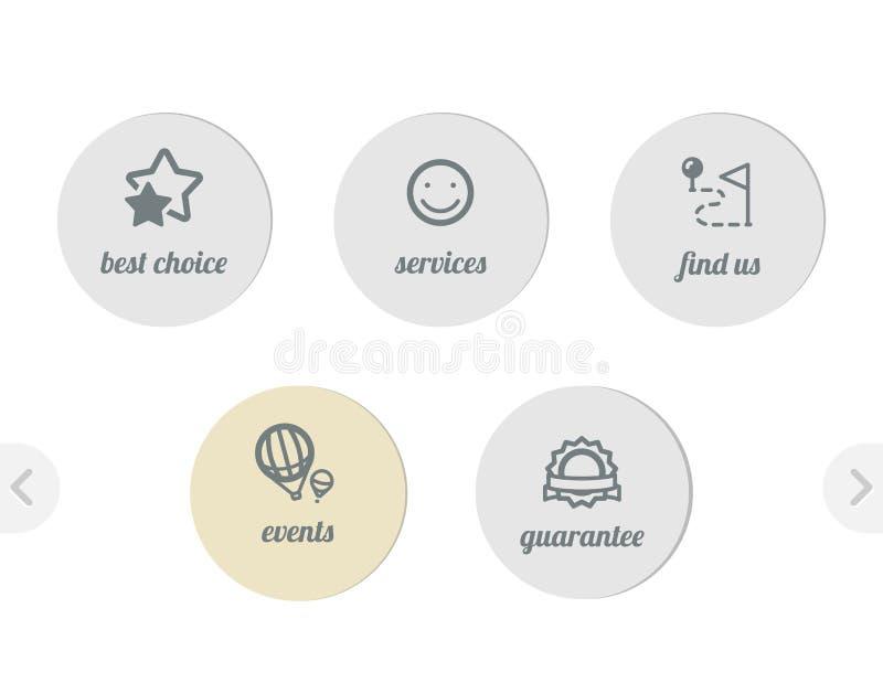 Graphismes simples pour le Web illustration libre de droits