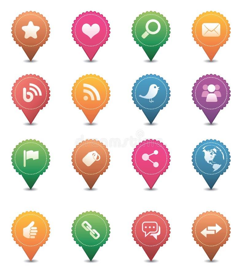 Graphismes sociaux de medias