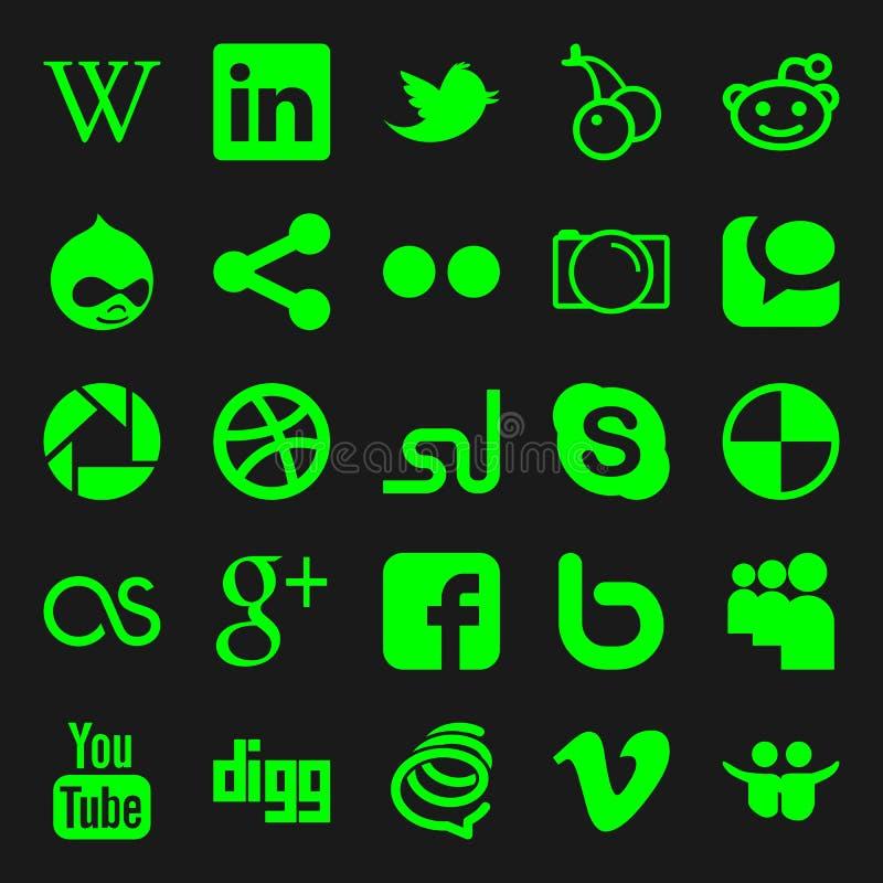 Graphismes sociaux de medias illustration stock