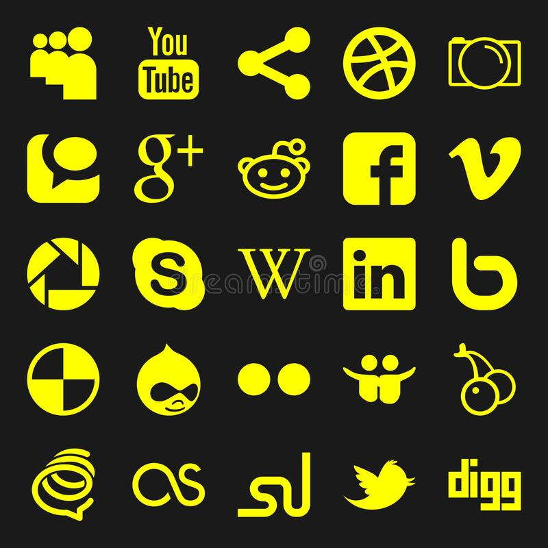 Graphismes sociaux de medias illustration de vecteur