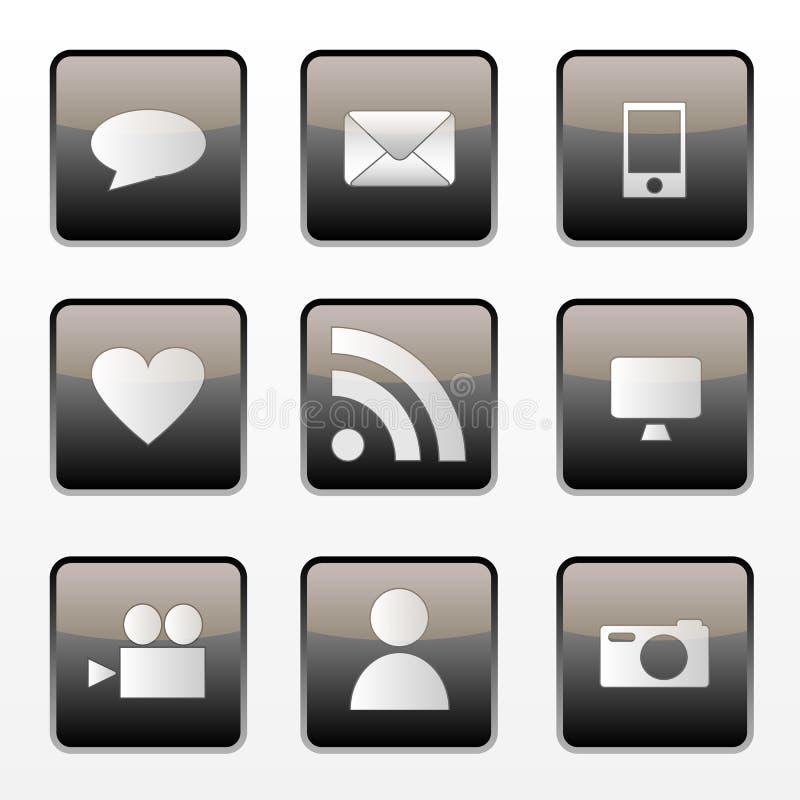 Graphismes sociaux de medias illustration libre de droits