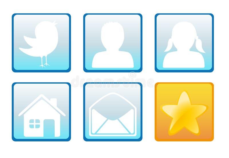Graphismes sociaux de réseau illustration de vecteur
