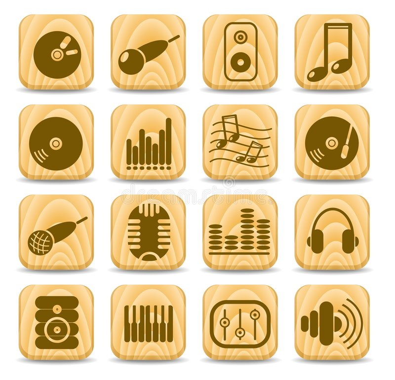 Graphismes sonores illustration de vecteur