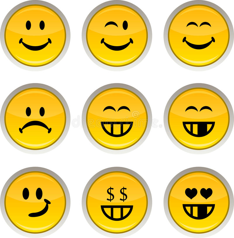 Graphismes souriants. illustration stock