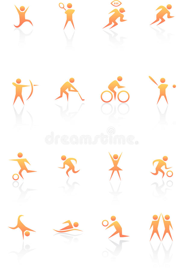 Graphismes sportifs illustration de vecteur