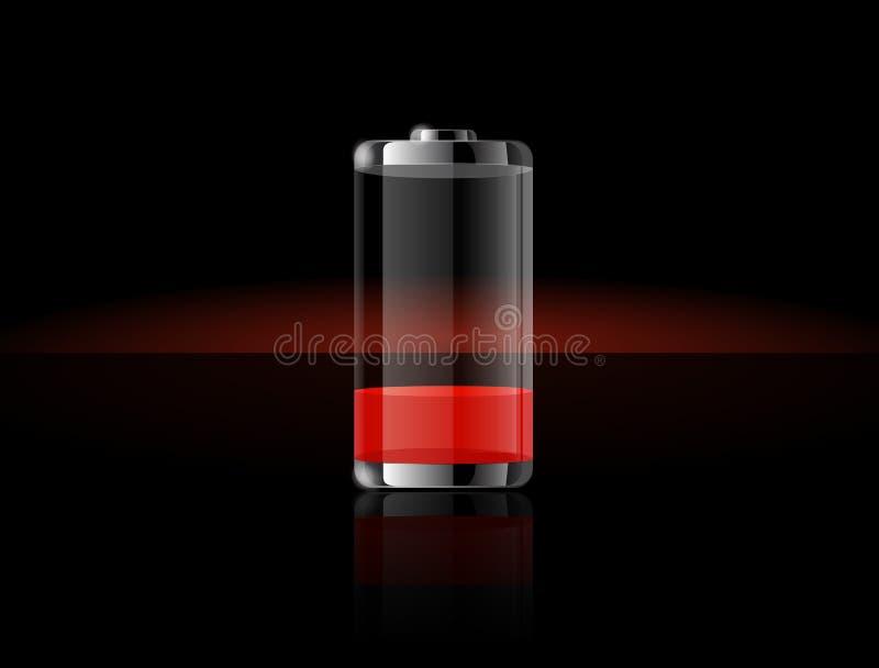 Graphismes transparents lustrés de batterie illustration stock