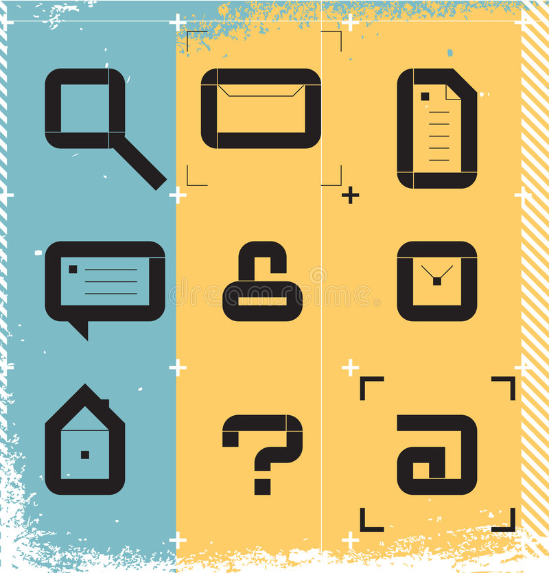 Graphismes urbains pour le Web illustration libre de droits