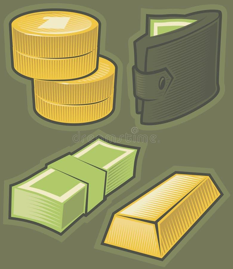 Download Graphismes Verts Avec De L'argent Illustration de Vecteur - Illustration du trésor, bourse: 8670814
