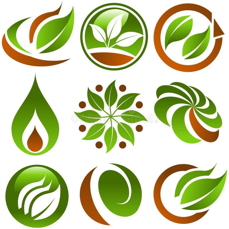 Graphismes verts d'Eco illustration libre de droits