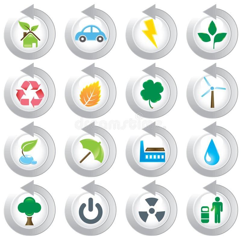 Graphismes verts environnementaux illustration stock
