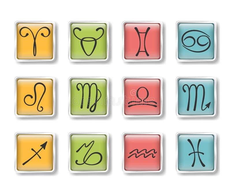 Graphismes zodiacaux illustration libre de droits