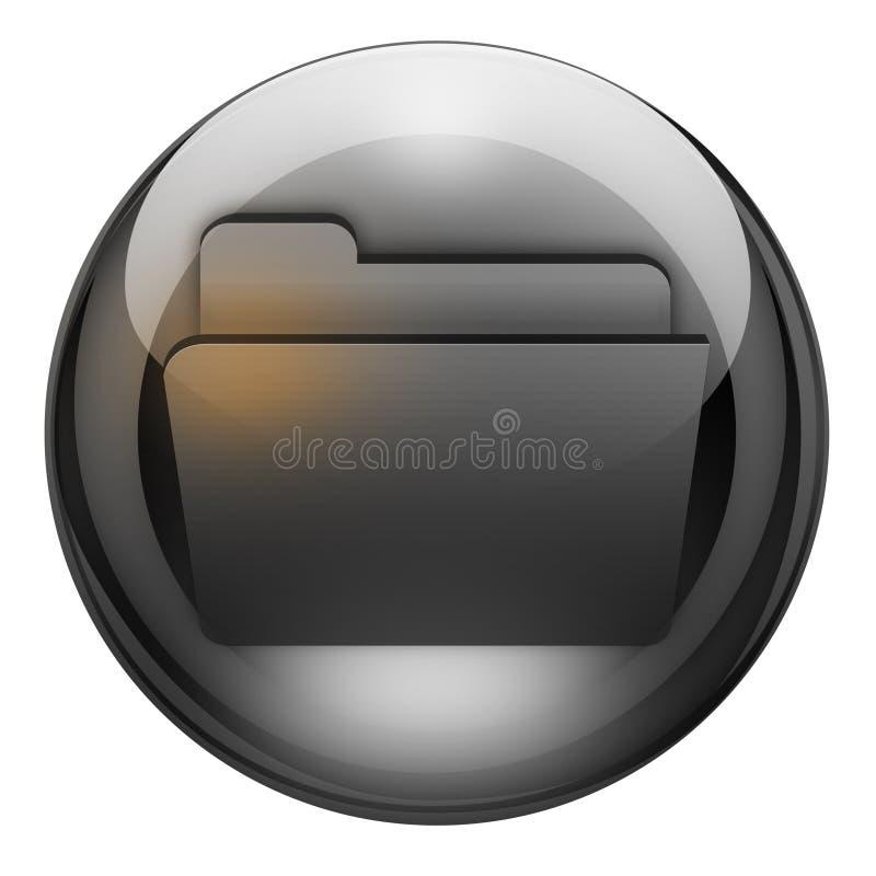 Download Graphite folder button stock illustration. Image of system - 7647497