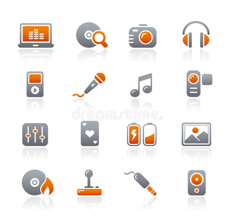 Graphite Icons // Media & Entertainment