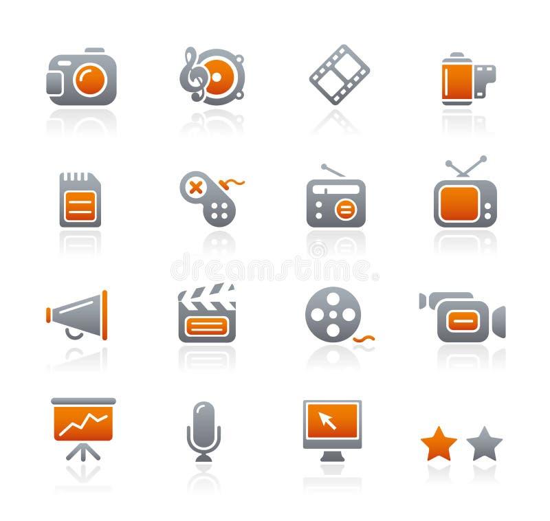 Graphite Icons // Multimedia stock photo
