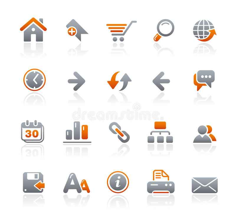 Graphite Icons // Web Site royalty free illustration