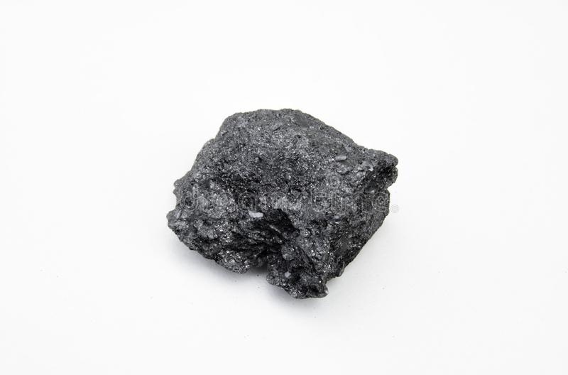 Graphite mineral isolated over white stock images