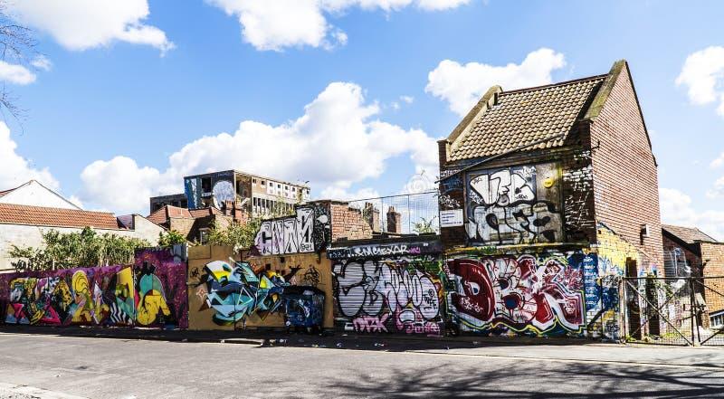 Graphity in Bristol Regno Unito fotografia stock libera da diritti