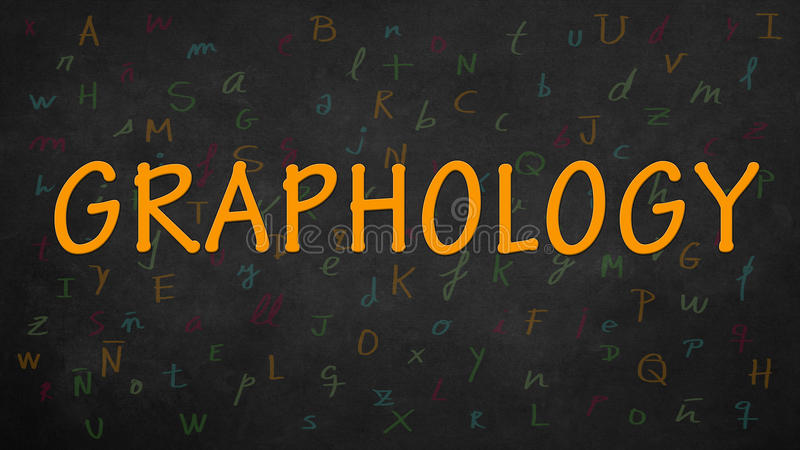 Graphology. And different fonts of the alphabet vector illustration