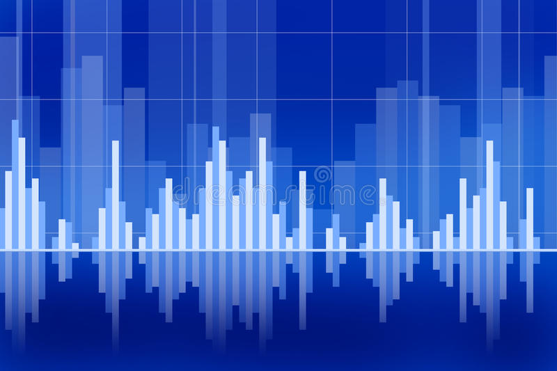 Graphs. Business and stock market chart concept with various graphs going up and down stock illustration