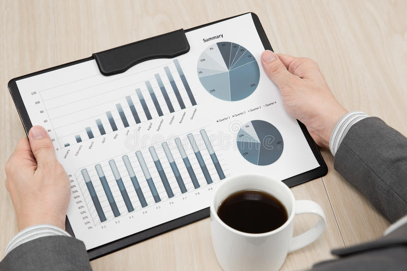 Graphs And Charts Analyzed Stock Images