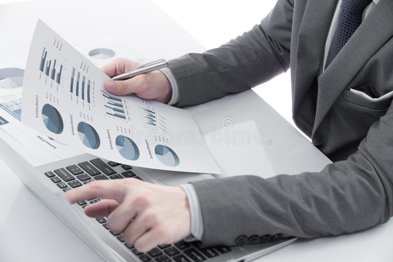 Download Graphs And Charts Analyzed By Businessman Stock Image - Image: 35109901