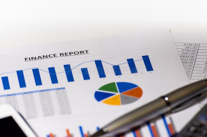 Graphs, charts, business table. Finance report. royalty free stock images
