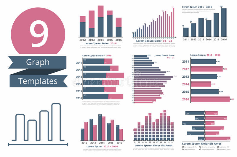 Download Graphs And Charts Templates Stock Vector   Illustration Of  Infographic, Concept: 74787695  Graphs And Charts Templates