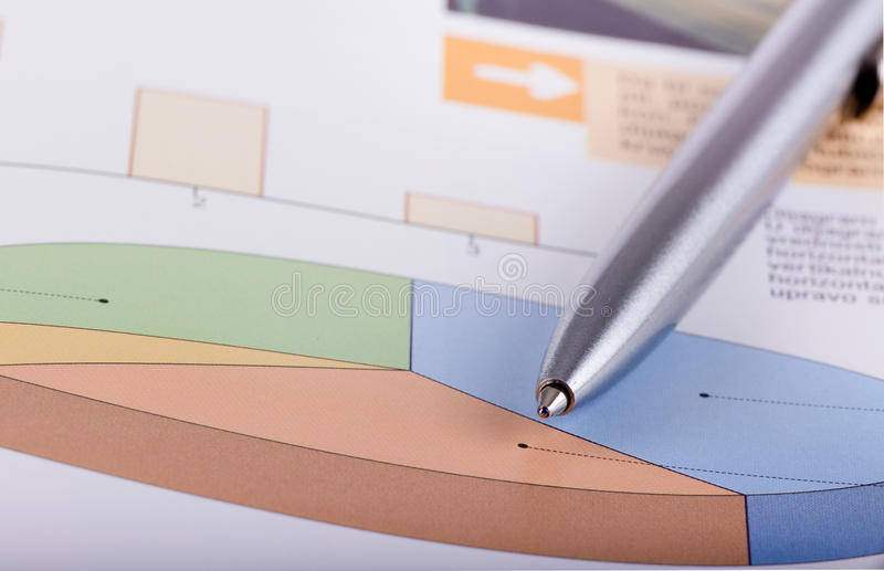 Graphs. Close up of graphs and paper statements for finance concept royalty free stock photo