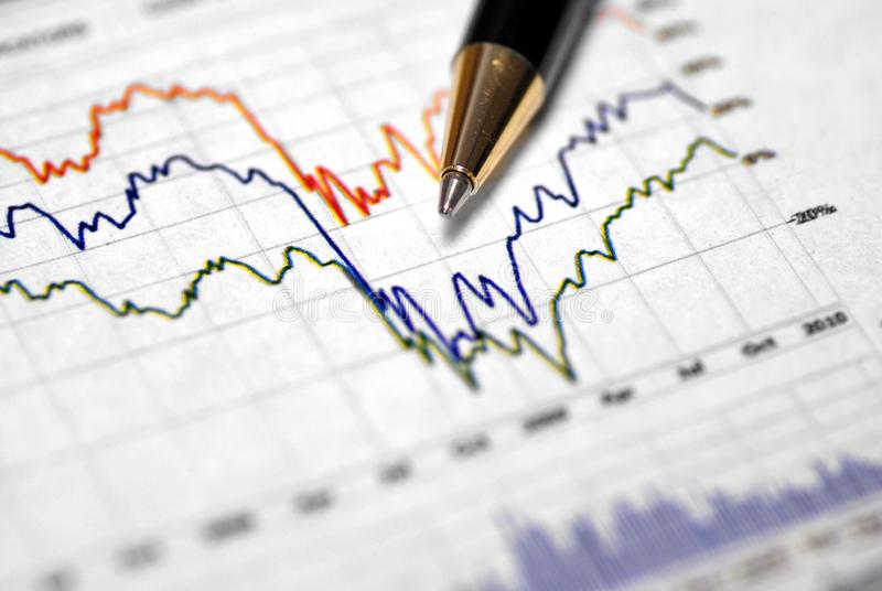 Graphs for Financial or Stock Market Charts stock photography