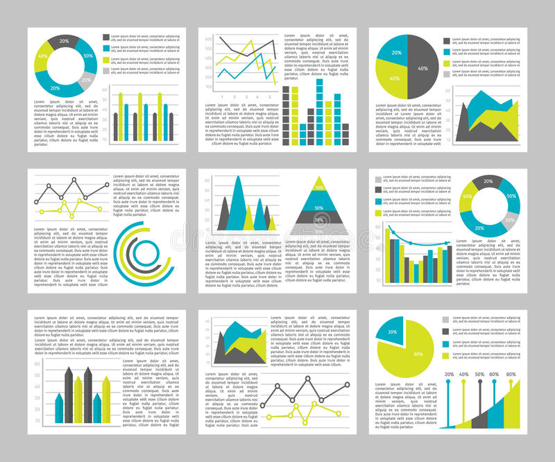 Graphs Flat Concept Stock Vector Illustration Of Data