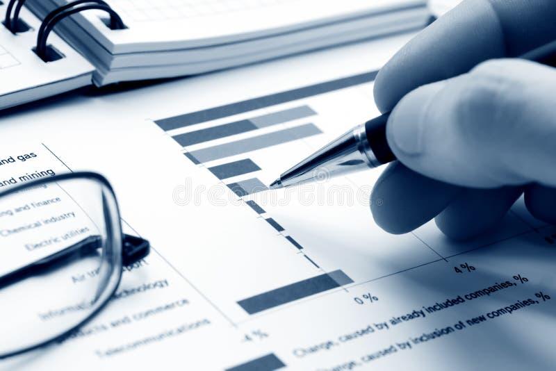 graphs market stock arkivfoton