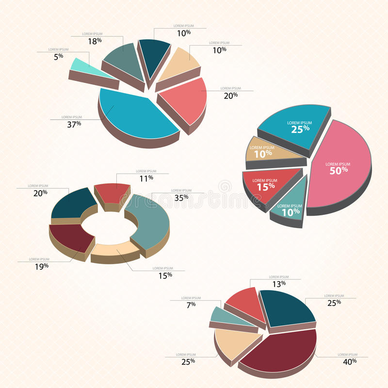 Download Graphs - Pie chart style stock vector. Image of vector - 40003704