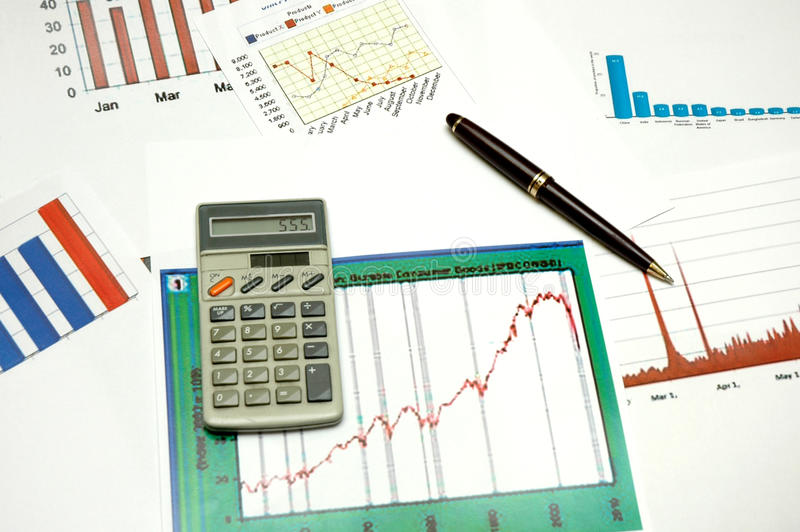 Download Graphs and statistics stock photo. Image of organization - 17017238
