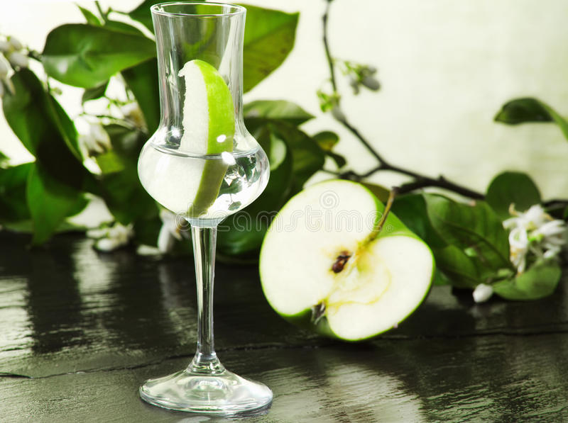 Download Grappa Flavored With Green Apple Stock Photo - Image: 24820320