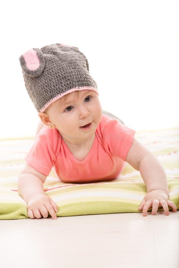 Grappig babymeisje stock fotografie