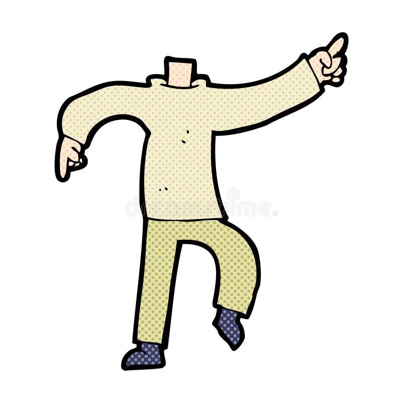 grappig beeldverhaal die lichaam richten (mengeling en gelijke voegen de grappige beeldverhalen of toe stock illustratie
