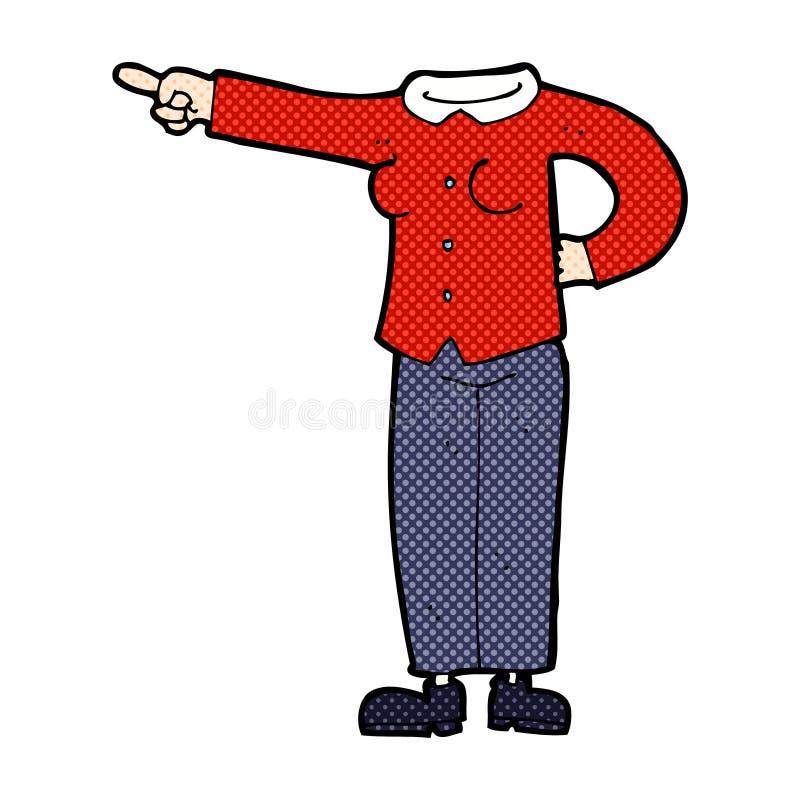 grappig beeldverhaal die lichaam richten (mengeling en gelijke voegen de grappige beeldverhalen of toe vector illustratie