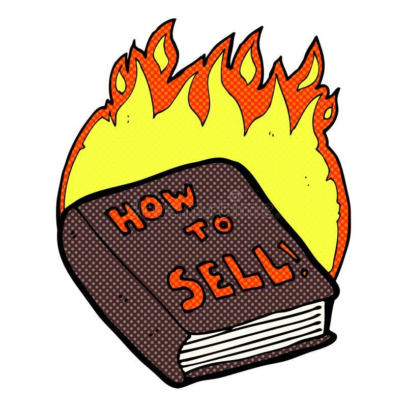 grappig beeldverhaal hoe te om boek te verkopen royalty-vrije illustratie