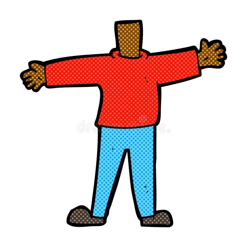 grappig beeldverhaal mannelijk lichaam (mengeling en gelijke voegen de grappige beeldverhalen of toe stock illustratie