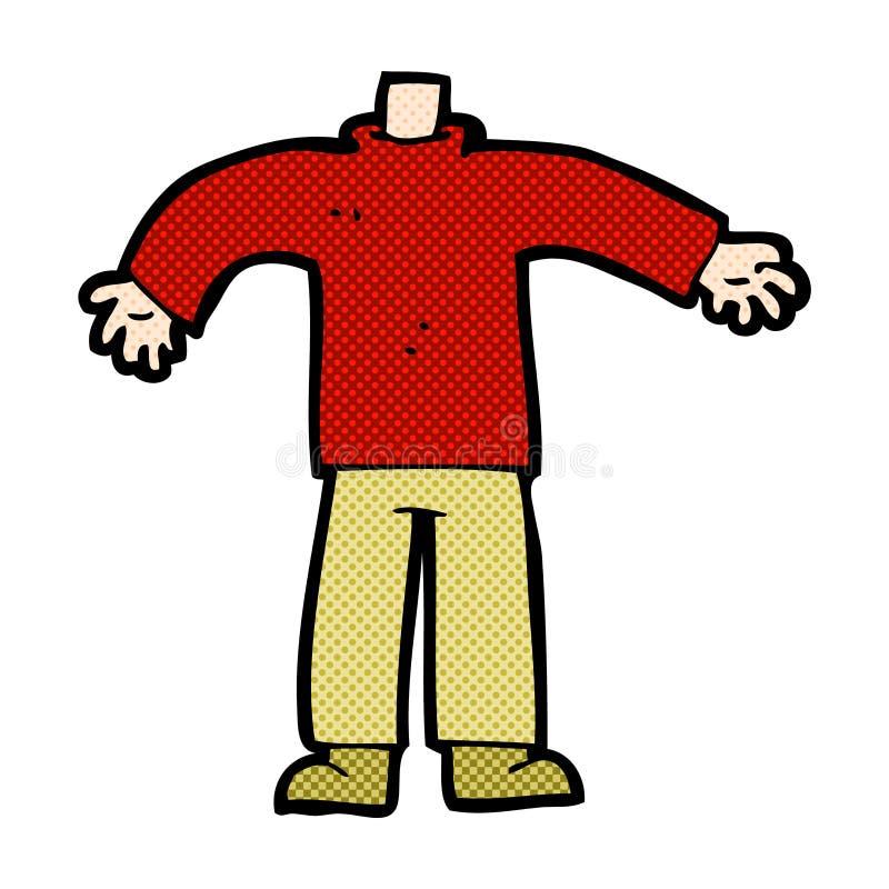 grappig beeldverhaal mannelijk lichaam (mengeling en gelijke voegen de grappige beeldverhalen of toe royalty-vrije illustratie