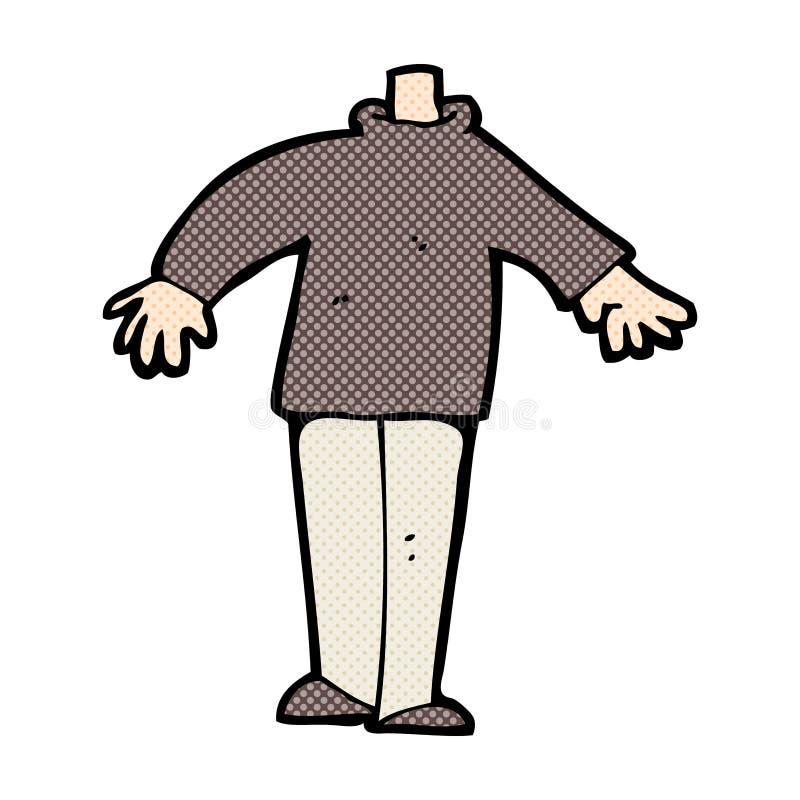 grappig beeldverhaal mannelijk lichaam (mengeling en gelijke voegen de grappige beeldverhalen of toe vector illustratie